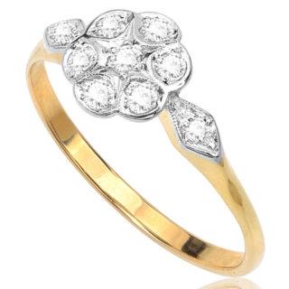 Daisy Daisy... Original Art Deco Diamond Daisy ring -3299