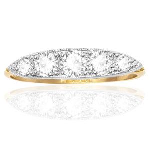 ***SOLD*** Stunning... Original Art Deco 5 stone Diamond ring -0