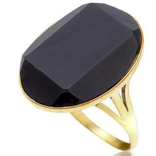***SOLD*** Deco Divine... Original 1920s Onyx ring -0