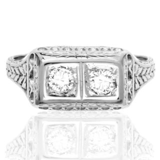 Perfect Proposal... Original Art Deco Diamond ring -0