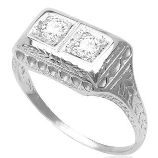 Perfect Proposal... Original Art Deco Diamond ring -3379