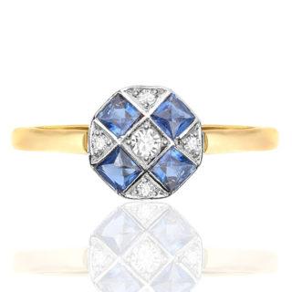 ***SOLD*** My Darling... Original Art Deco Sapphire and Diamond ring-0