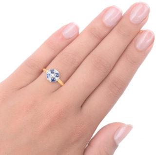 ***SOLD*** My Darling... Original Art Deco Sapphire and Diamond ring-3354