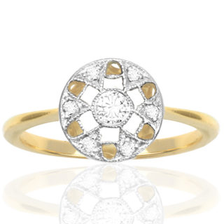 Stylish... Original Art Deco Diamond ring -0