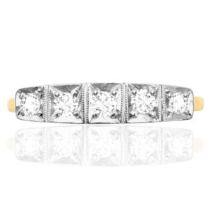 ***SOLD*** Original 1920s 5 stone Diamond ring -0