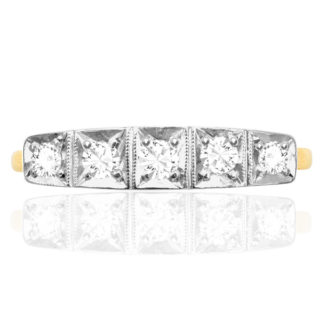 ***SOLD*** Original 1920s 5 stone Diamond ring -0