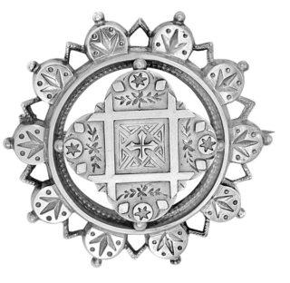 Antique Sterling Silver Brooch-0