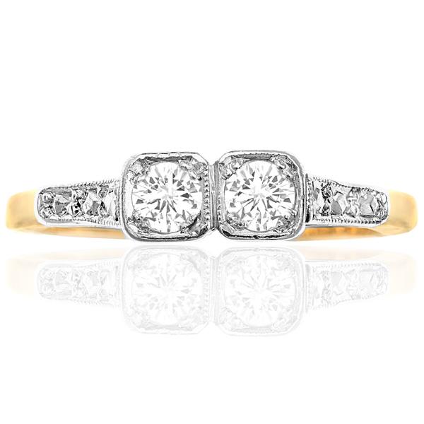 I DO... Original 1920s Diamond Engagement ring-0