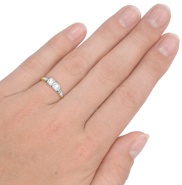 I DO... Original 1920s Diamond Engagement ring-3411