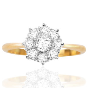 ***SOLD*** English Daisy... Original Art Deco Diamond Daisy ring -0