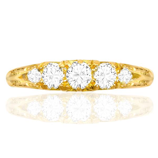 Antique 5 stone Diamond ring -3443