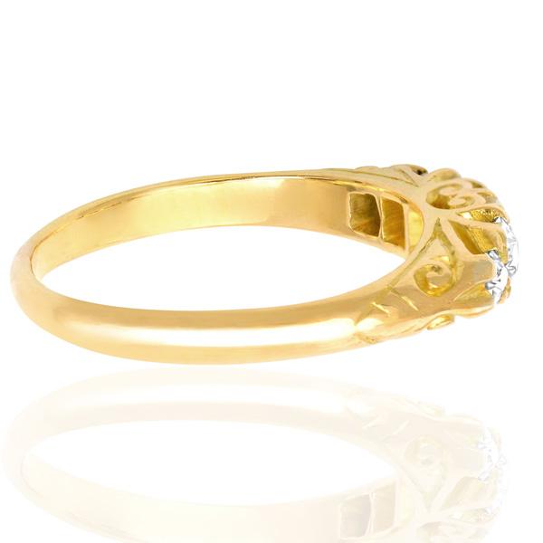 Antique 5 stone Diamond ring -3446