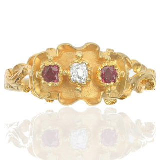 Intricate... Antique Ruby and Diamond ring-0