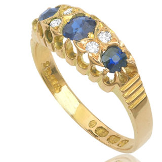 ***SOLD*** Lady Mary... Original Edwardian Sapphire and Diamond ring -0