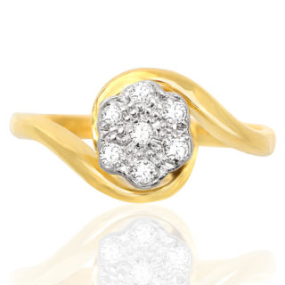 Eternal Love... Original Art Deco Daisy ring -0