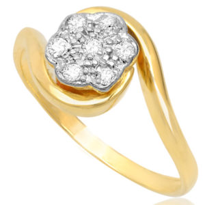 Eternal Love... Original Art Deco Daisy ring -3466