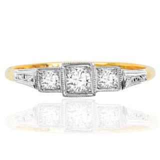 ***SOLD*** Super Sparkling... Original Art Deco Diamond ring -0
