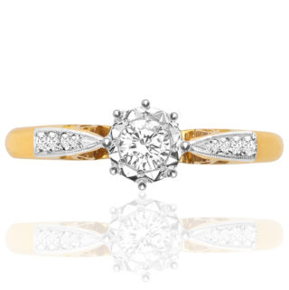Original Art Deco Diamond Engagement ring -0