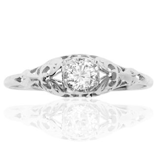 Delightful... Original 1920s Diamond Engagement ring -3455