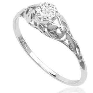 Delightful... Original 1920s Diamond Engagement ring -0