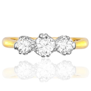 Dazzling... Original Art Deco Diamond 'Trilogy' ring -0