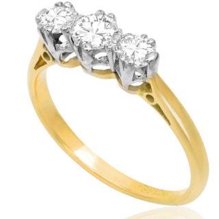 Dazzling... Original Art Deco Diamond 'Trilogy' ring -3488