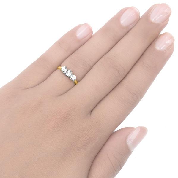 Dazzling... Original Art Deco Diamond 'Trilogy' ring -3489