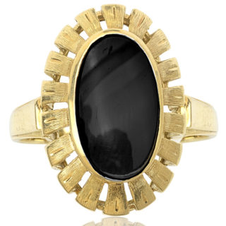 Bold and Beautiful... Original 1940s Onyx ring-0