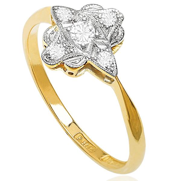 ***SOLD*** So Chic... Original Art Deco Diamond Plaque ring -3506