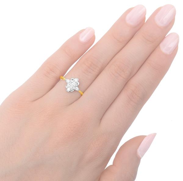 ***SOLD*** So Chic... Original Art Deco Diamond Plaque ring -3508
