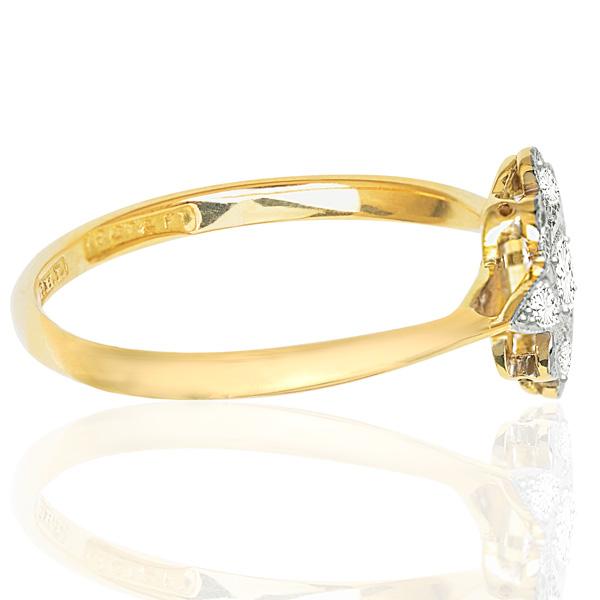 ***SOLD*** So Chic... Original Art Deco Diamond Plaque ring -3507