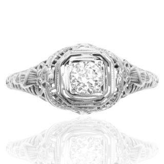 Irresistible... Original Art Deco Diamond ring -0