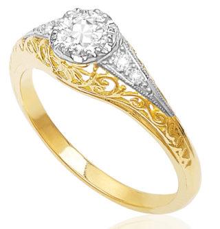 Bliss... Handmade Diamond Engagement ring -0