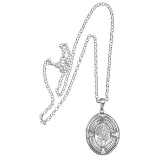 Antique Sterling Silver Locket -0