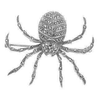 Marcasite Spider Brooch-0