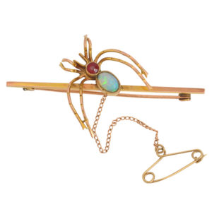 Antique Spider Brooch with an Opal -0