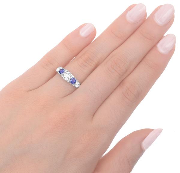 Divine... Handmade Sapphire and Diamond ring -3518