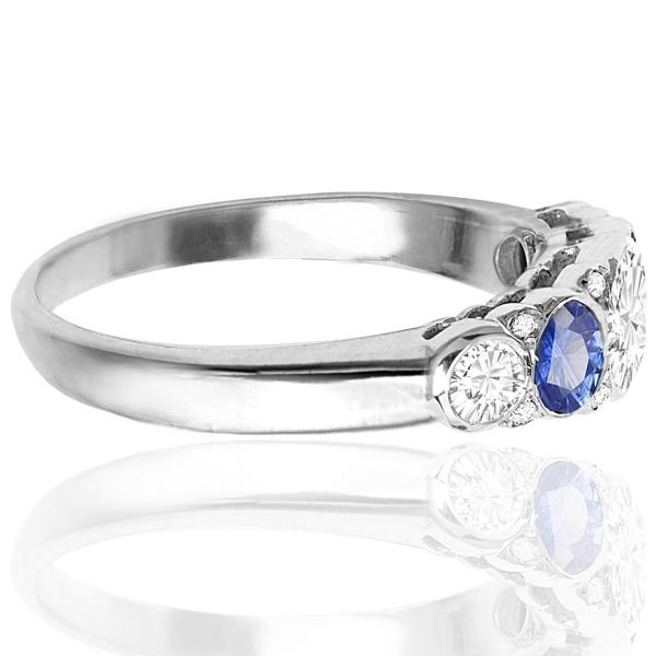 Divine... Handmade Sapphire and Diamond ring -3517