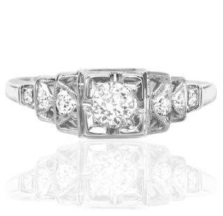 ***SOLD*** Elegant... Original Art Deco Diamond ring -0