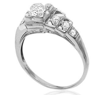 ***SOLD*** Elegant... Original Art Deco Diamond ring -3496