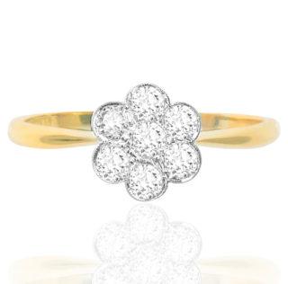 Miss Coco... Original Art Deco Diamond Daisy ring -0
