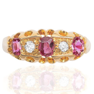 Antique Ruby and Diamond ring -3575