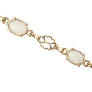 1930s Moonstone Gold Bracelet -0