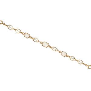 1930s Moonstone Gold Bracelet -3548
