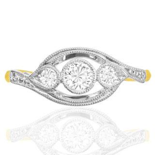 ***SOLD*** Swirl... Original Art Deco Diamond ring -0