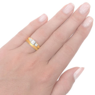 Stylish... Handmade Diamond Engagement ring-3565