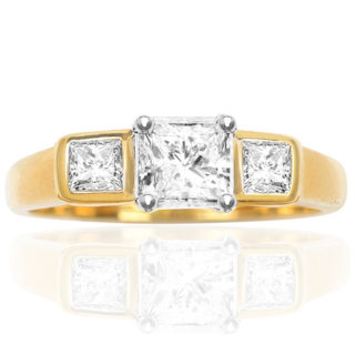 Stylish... Handmade Diamond Engagement ring-0