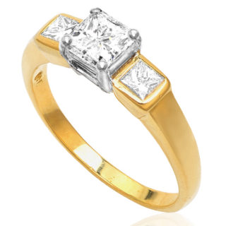 Stylish... Handmade Diamond Engagement ring-3563