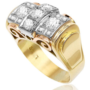 Wow Factor... Retro 1940s Diamond ring -0
