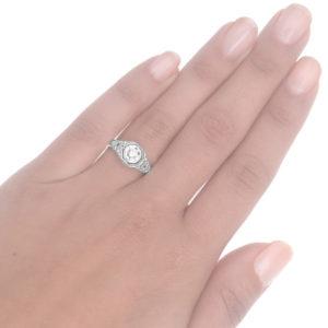Love Me Do... Original Art Deco Diamond ring -3691